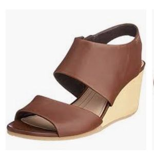 Camper Laura Wedge in Cognac Brown